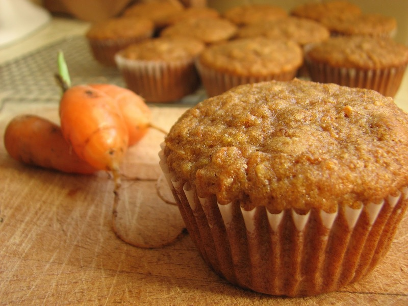 Low cal carrot muffins